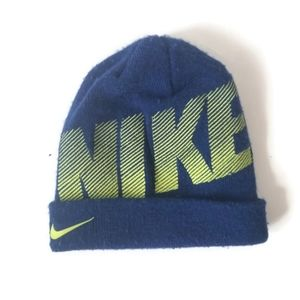 Nike Hat Beanie Winter Boys Blue sz 4 5 6 7